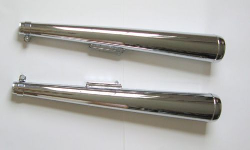 Muffler Set, Dunstall Style, Wide Mouth