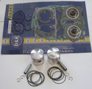 Piston Kit with Complete Gasket Set Honda 350